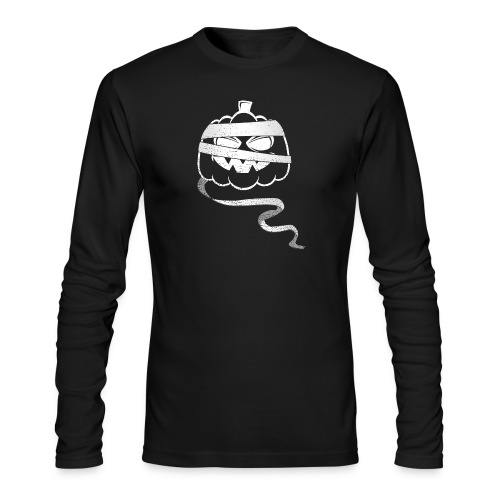Halloween Bandaged Pumpkin - Men's Long Sleeve T-Shirt by Next Level