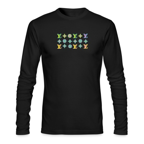 custom coloured LV pattern. - Men's Long Sleeve T-Shirt by Next Level