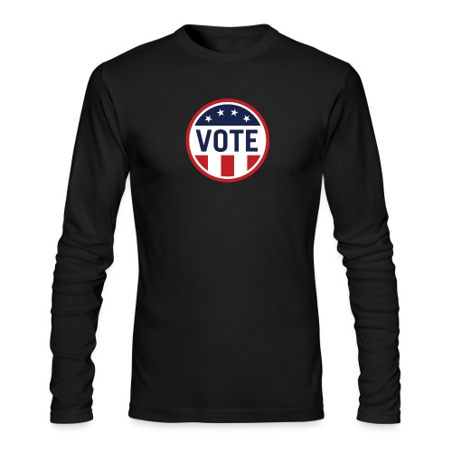 Vote Red White and Blue Stars and Stripes - Men's Long Sleeve T-Shirt by Next Level