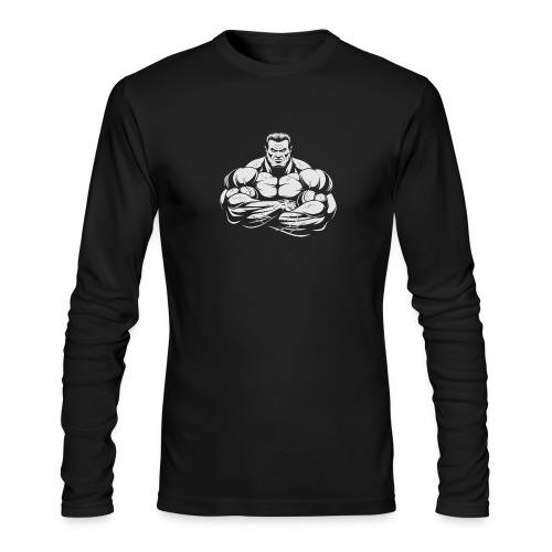 An Angry Bodybuilding Coach - Men's Long Sleeve T-Shirt by Next Level