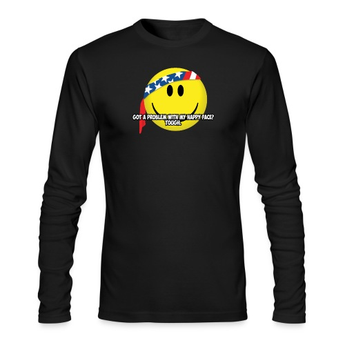 Happy Face USA - Men's Long Sleeve T-Shirt by Next Level