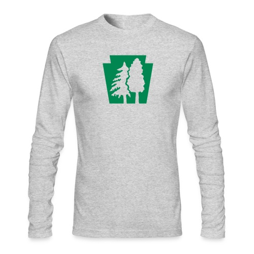 PA Keystone w/trees - Men's Long Sleeve T-Shirt by Next Level
