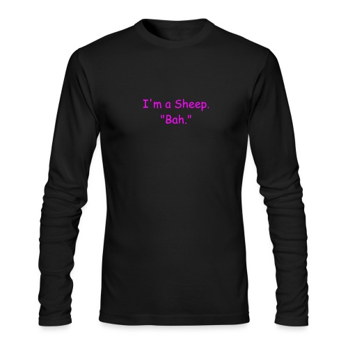 I'm a Sheep. Bah. - Men's Long Sleeve T-Shirt by Next Level