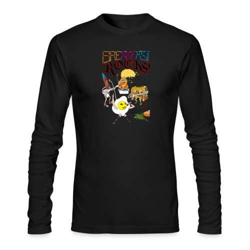Breakfast Rocks! - Men's Long Sleeve T-Shirt by Next Level