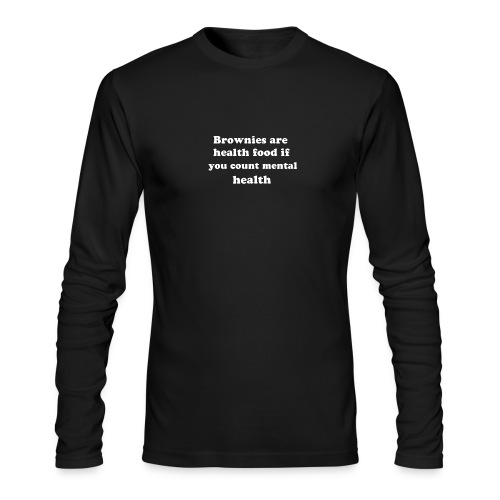 Brownies funny quote - Men's Long Sleeve T-Shirt by Next Level