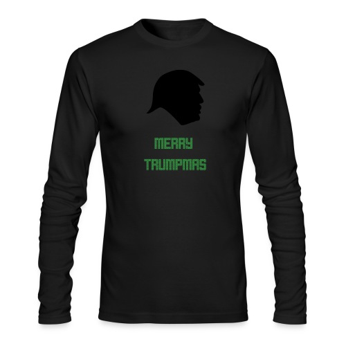 Merry Trumpmas Green - Men's Long Sleeve T-Shirt by Next Level