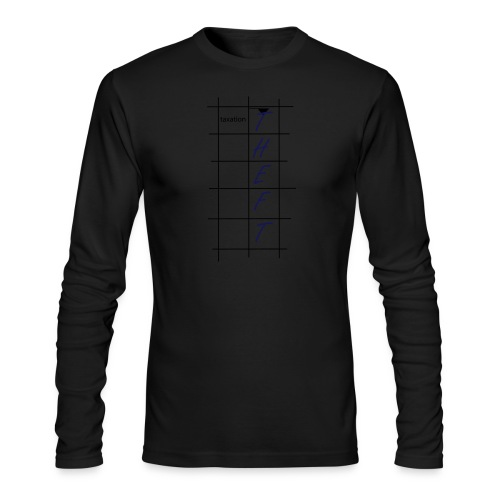 Taxation is Theft Crossword - Men's Long Sleeve T-Shirt by Next Level