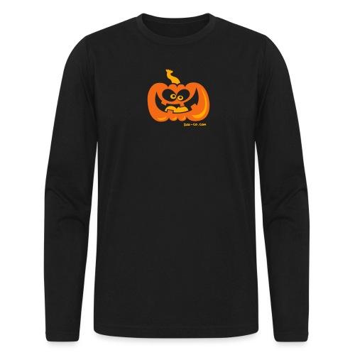 Smiling Pumpkin - Men's Long Sleeve T-Shirt by Next Level