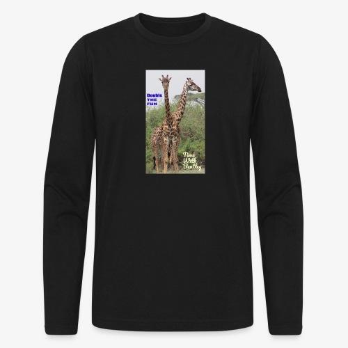 Two Headed Giraffe - Men's Long Sleeve T-Shirt by Next Level