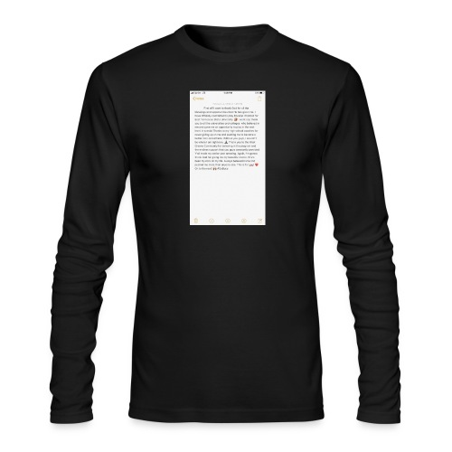 Text from a Football Commit - Men's Long Sleeve T-Shirt by Next Level