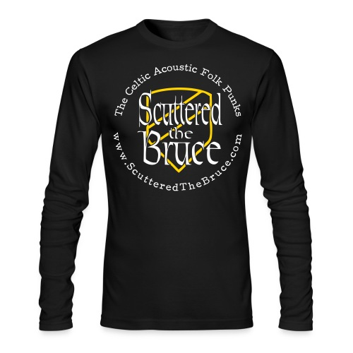 logo black type recolored sheild outline - Men's Long Sleeve T-Shirt by Next Level