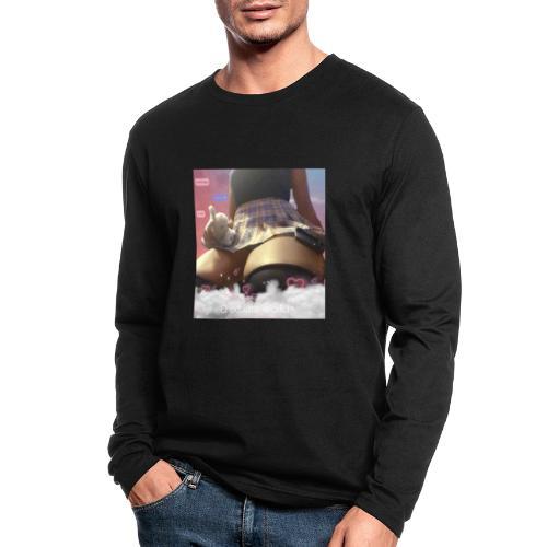 Chocolate waifu black text - Men's Long Sleeve T-Shirt by Next Level