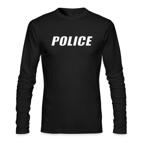 Police White - Men's Long Sleeve T-Shirt by Next Level