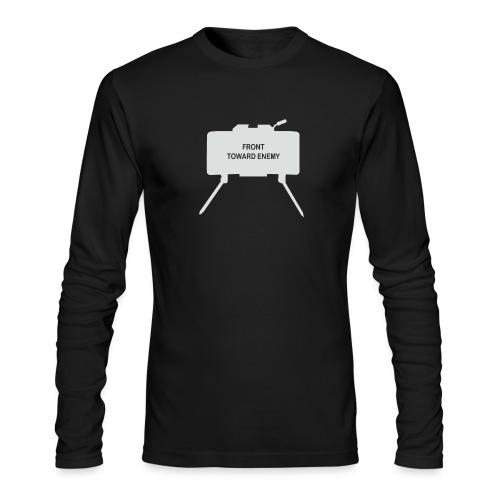 Claymore Mine (Minimalist/Light) - Men's Long Sleeve T-Shirt by Next Level