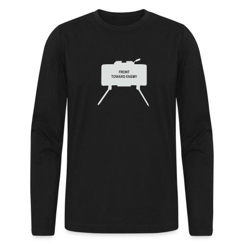 Claymore Mine (Minimalist/Light) - Men's Long Sleeve T-Shirt by Next Level