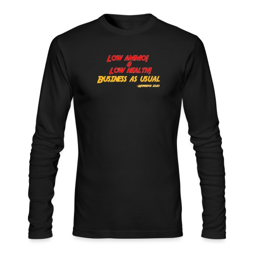 Low ammo & Low health + Logo - Men's Long Sleeve T-Shirt by Next Level