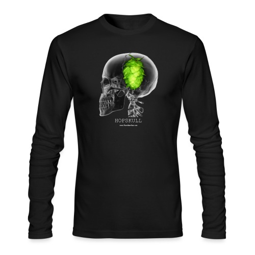 HOPSKULL T-Shirt (Double Sided) - Men's Long Sleeve T-Shirt by Next Level