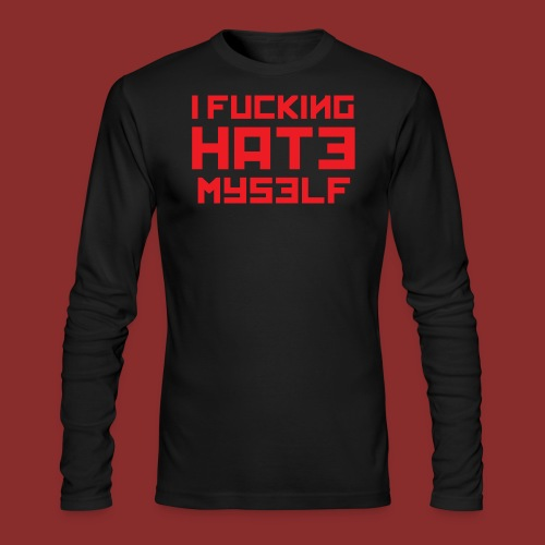 Hate Myself - Midnight N - Men's Long Sleeve T-Shirt by Next Level
