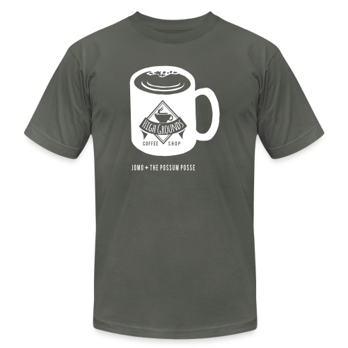 High Grounds Coffee Shop - Unisex Jersey T-Shirt by Bella + Canvas