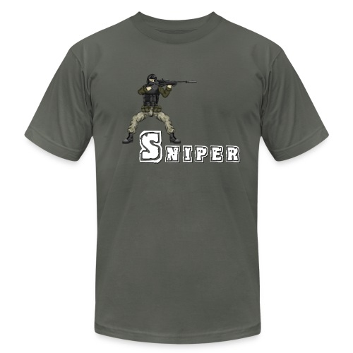 sniper design - Unisex Jersey T-Shirt by Bella + Canvas