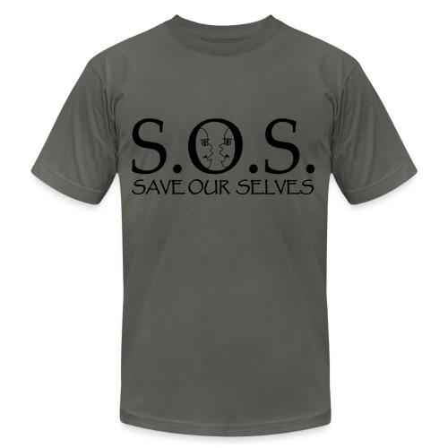 SOS Black on Black - Unisex Jersey T-Shirt by Bella + Canvas
