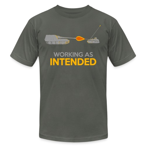 Working as Intended - Unisex Jersey T-Shirt by Bella + Canvas