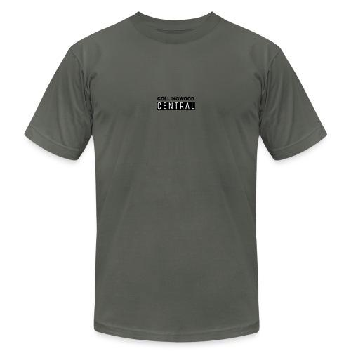 BLK Collingwood Central Logo - Unisex Jersey T-Shirt by Bella + Canvas