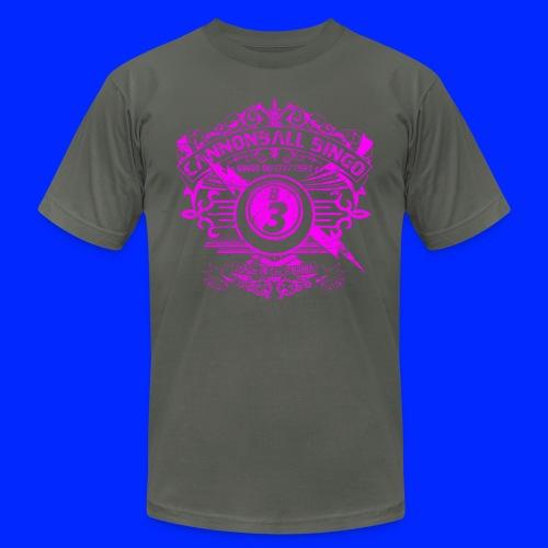 Vintage Cannonball Bingo Crest Pink - Unisex Jersey T-Shirt by Bella + Canvas