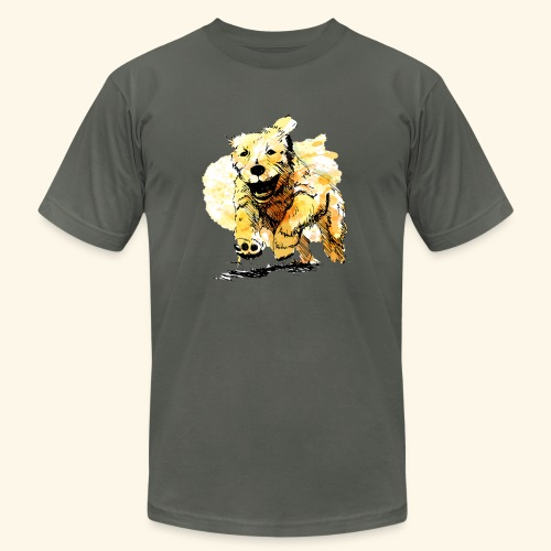 oil dog - Unisex Jersey T-Shirt by Bella + Canvas