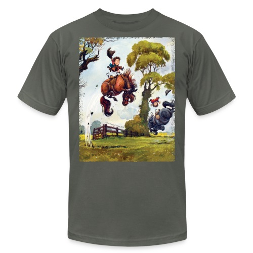 PonyRodeo Thelwell Cartoon - Unisex Jersey T-Shirt by Bella + Canvas