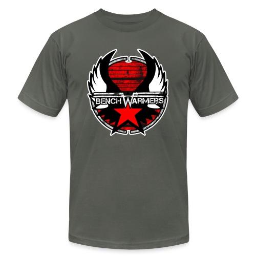 Logo2 Contour blanc - Unisex Jersey T-Shirt by Bella + Canvas