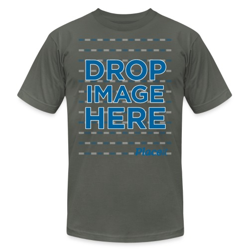 DROP IMAGE HERE - Placeit Design - Unisex Jersey T-Shirt by Bella + Canvas