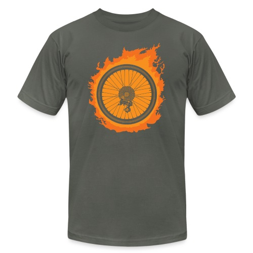 Bike Fire - Unisex Jersey T-Shirt by Bella + Canvas