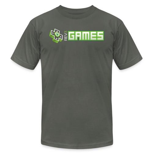 rev3gameshorizontaldarkbackground - Unisex Jersey T-Shirt by Bella + Canvas