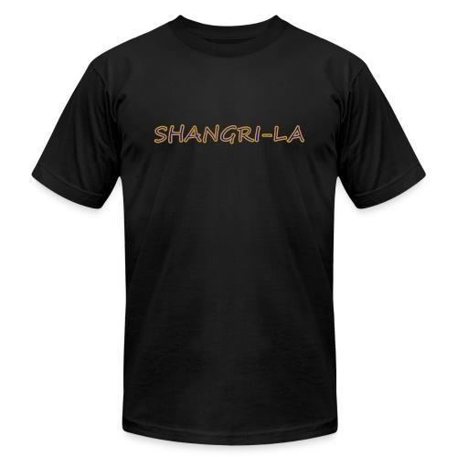 Shangri La gold blue - Unisex Jersey T-Shirt by Bella + Canvas