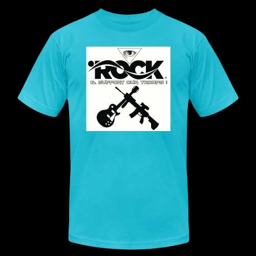 Eye Rock & Support The Troops - Unisex Jersey T-Shirt by Bella + Canvas
