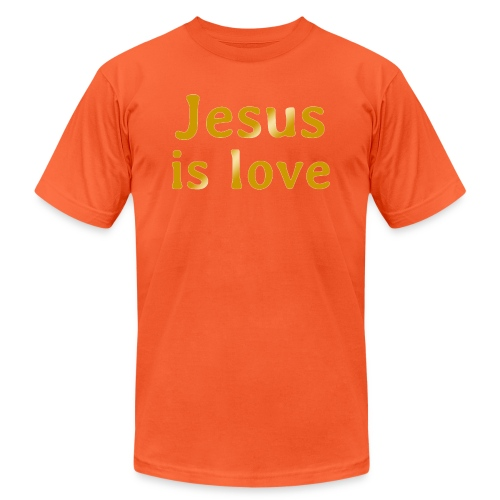 Jesus is love - Unisex Jersey T-Shirt by Bella + Canvas