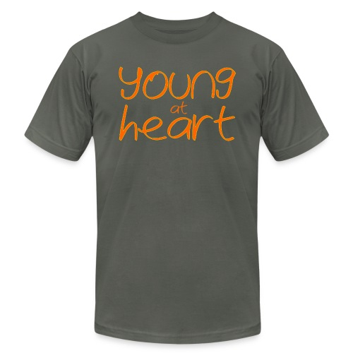 young at heart - Unisex Jersey T-Shirt by Bella + Canvas