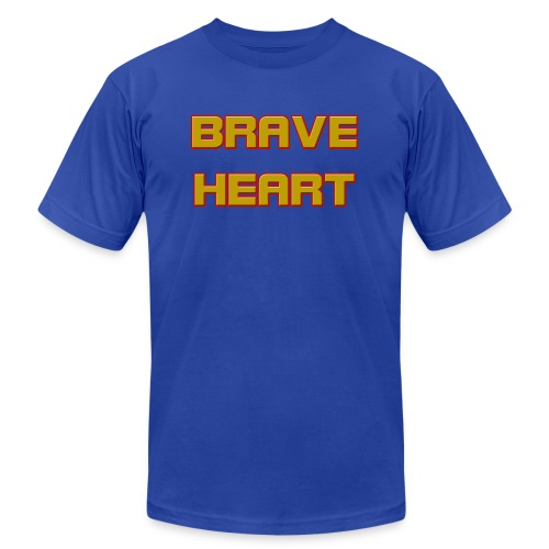 brave heart - Unisex Jersey T-Shirt by Bella + Canvas