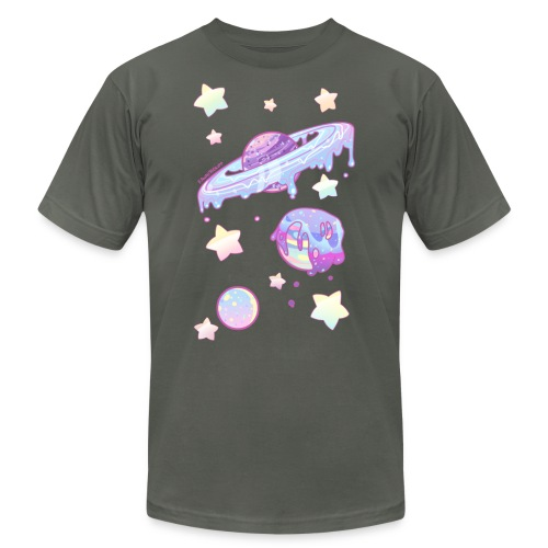 Drippy Planets - Unisex Jersey T-Shirt by Bella + Canvas