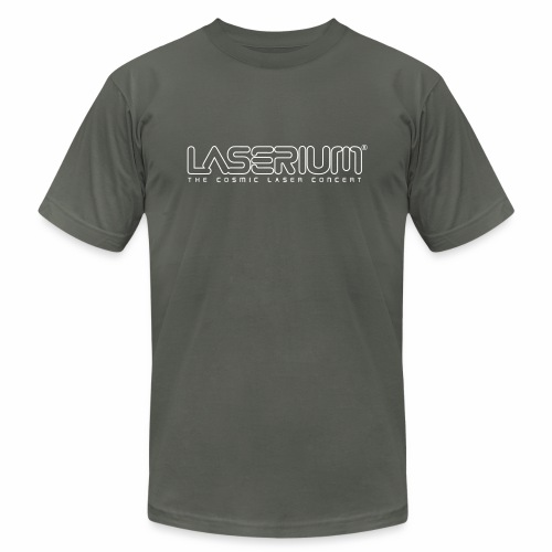 Laserium Logo OL White Tag - Unisex Jersey T-Shirt by Bella + Canvas