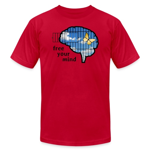 free your mind - Unisex Jersey T-Shirt by Bella + Canvas