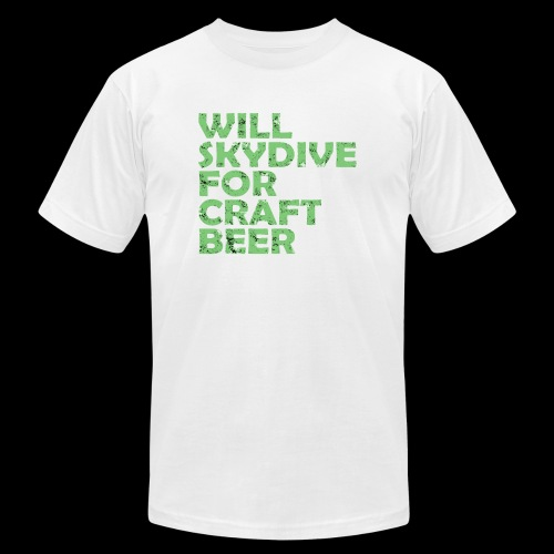 skydive for craft beer - Unisex Jersey T-Shirt by Bella + Canvas
