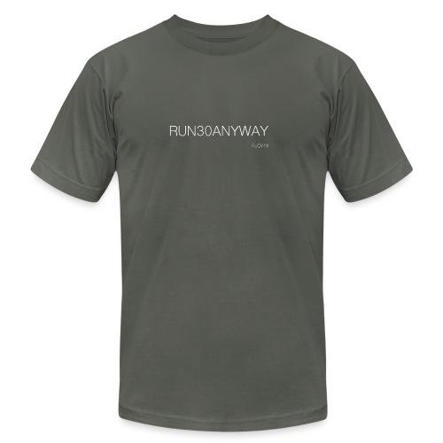 Run/Bike/Walk 30 Anyway - Unisex Jersey T-Shirt by Bella + Canvas
