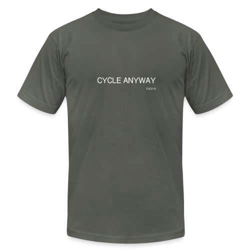CYCLE, white font - Unisex Jersey T-Shirt by Bella + Canvas