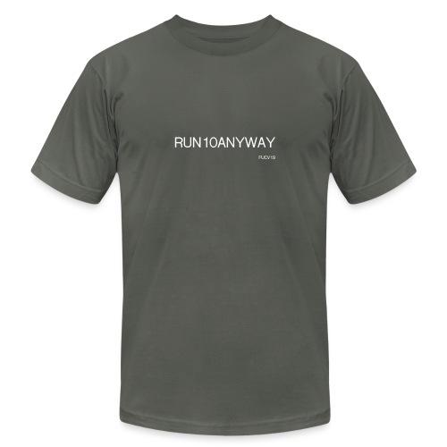 Run/Bike/Walk 10 - Unisex Jersey T-Shirt by Bella + Canvas