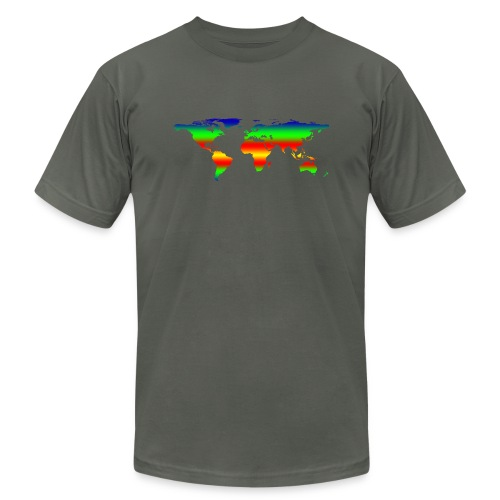 colorful world - Unisex Jersey T-Shirt by Bella + Canvas