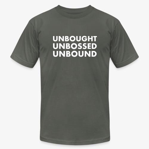 Unbought Unbought Unbound - Unisex Jersey T-Shirt by Bella + Canvas