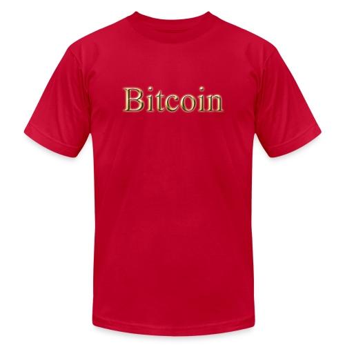 BITCOIN gold - Unisex Jersey T-Shirt by Bella + Canvas