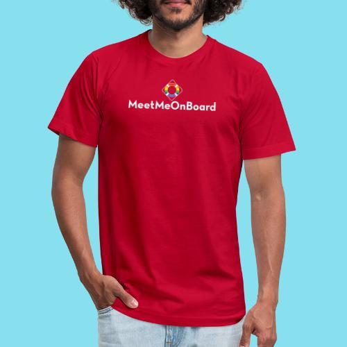 MMOB_logo_vert_whitetype - Unisex Jersey T-Shirt by Bella + Canvas